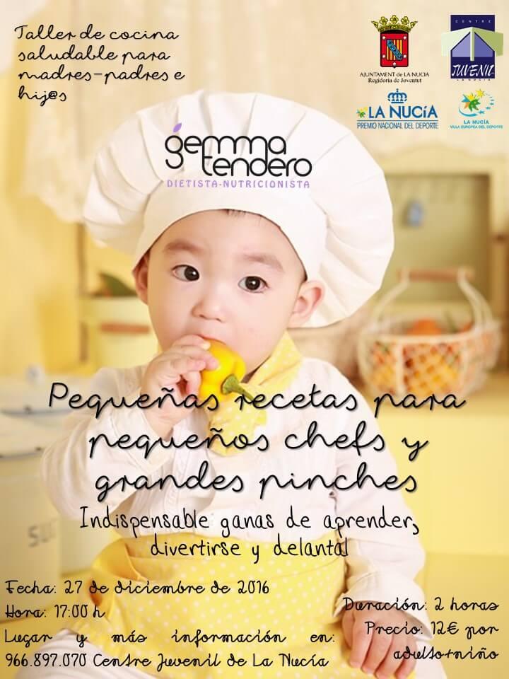 Taller de cocina saludable para niños